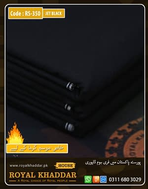 RS350 Jet Black Special Royal Summer Khaddar