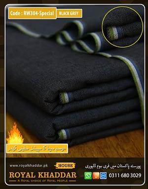 RW304 Black Grey Special Safini Khaddar