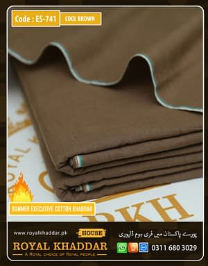 ES741 Cool Brown Summer Khaddar