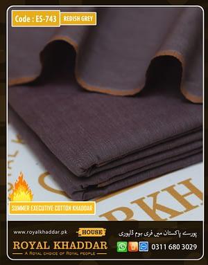 ES743 Redish Grey Summer Khaddar
