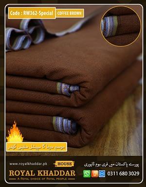 RW362 Coffee Brown Special Safini Khaddar