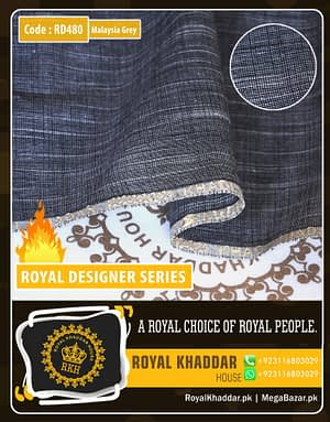 Dark Grey Royal Summer Designer Khaddar RD480