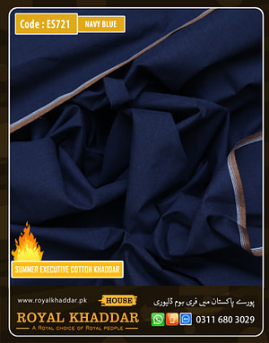 Navy Blue Summer Khaddar
