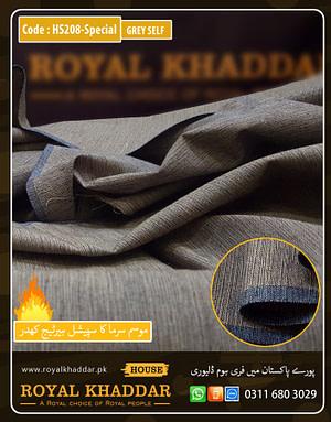Grey Self Design Heritage Khaddar