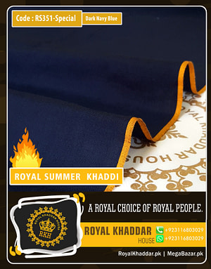 Dark Navy Blue Special Royal Summer Khaddar