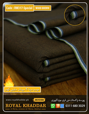 Wood Brown Special Safini Khaddar